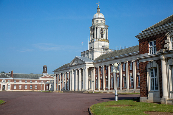 RAF Cranwell College Hall side view.