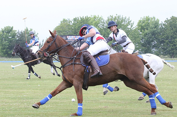 Polo action at Cranwell