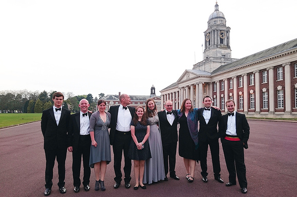 The RAF polo Club dressed for dinner at RAF Cranwell