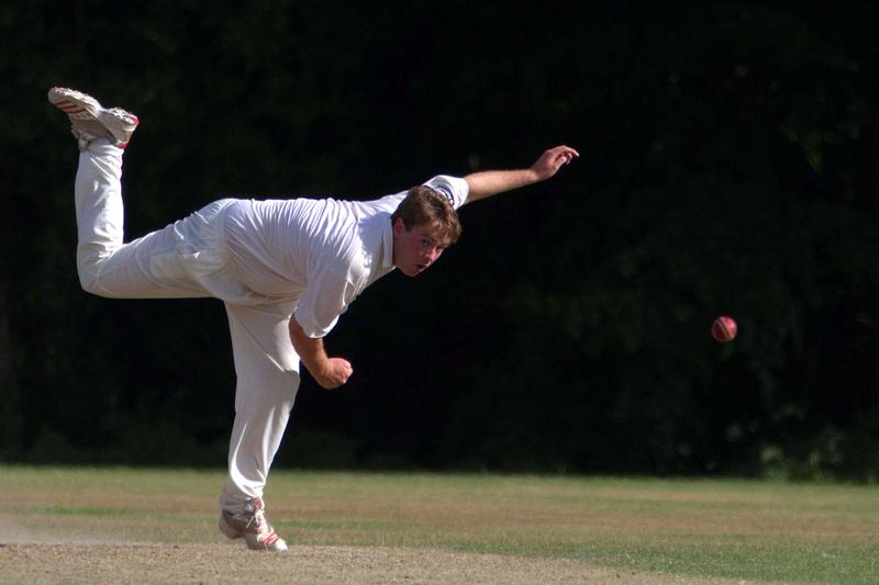 An MCC bowler at RMA Sandhurst