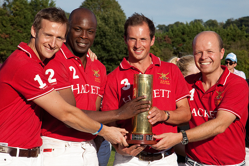 Army Polo Team with the HAC 105 Trophy