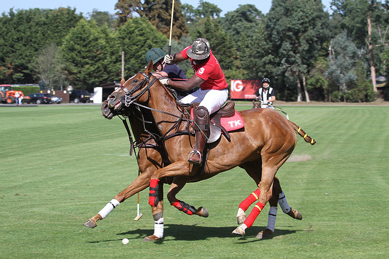 The British Army Polo Team playing at Ham Polo Club