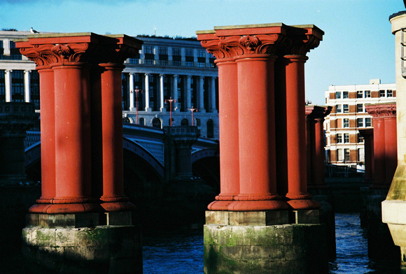 Old bridge columns